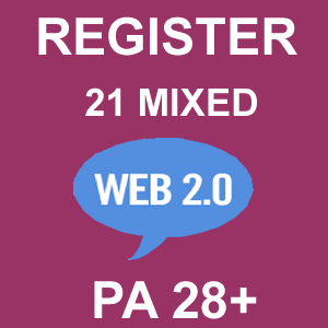 Register 21 Mixed Web 2.0 Blogs PA 28 Plus